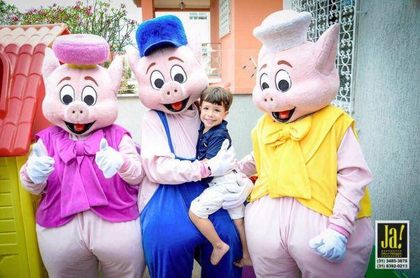 tema festa infantil masculino os 3 porquinhos